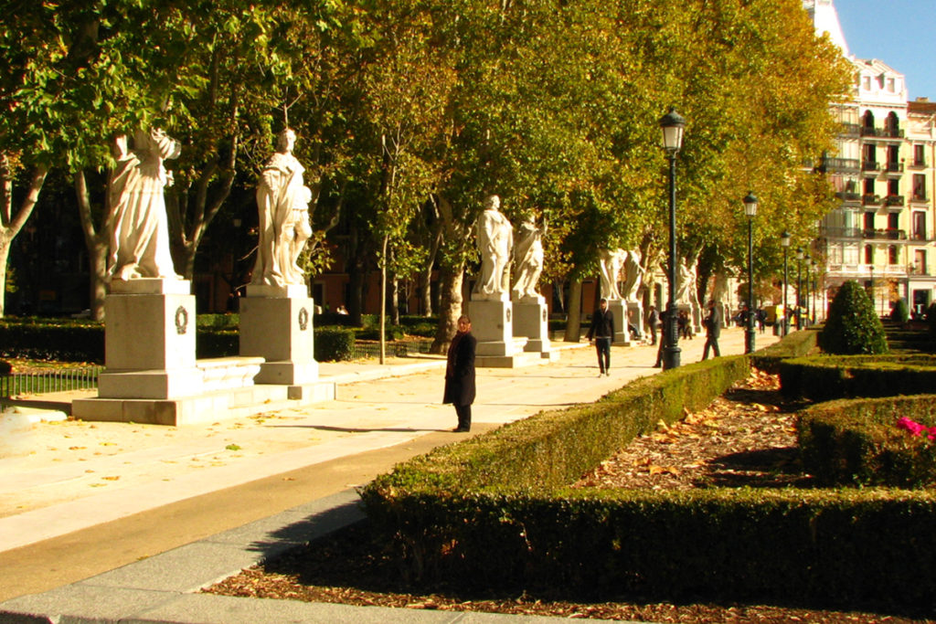 Statues of all Spanish rulers in front of Royal Palace Madrid
