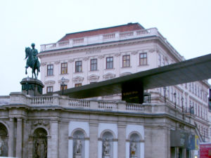 Albertina collection building in central Vienna