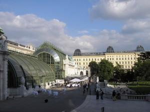 Palmenhaus at Burggarten park in Vienna