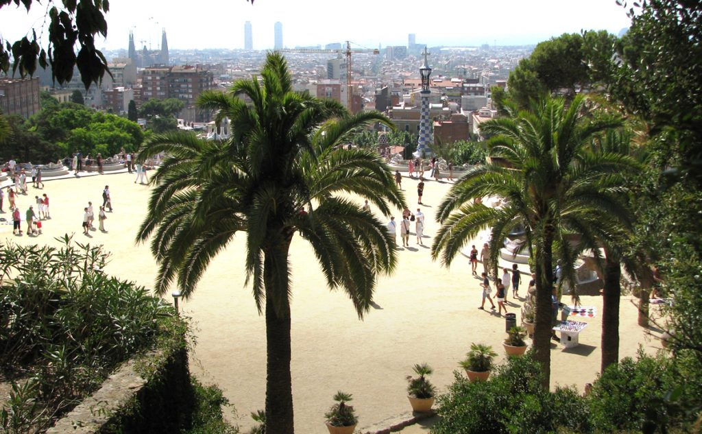 Panorama of Barcelona from Parc Güell