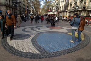 Juan Miro Mosaic at La Rambla Barcelona