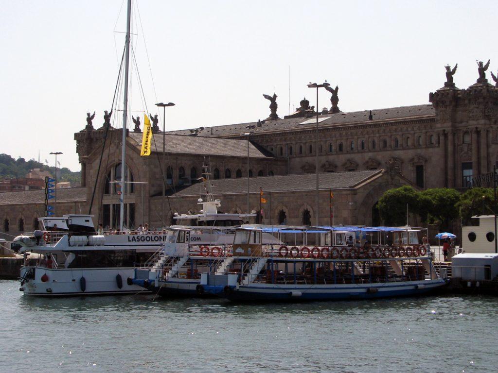 Las Golondrinas tour boats at Port Vell Barcelona