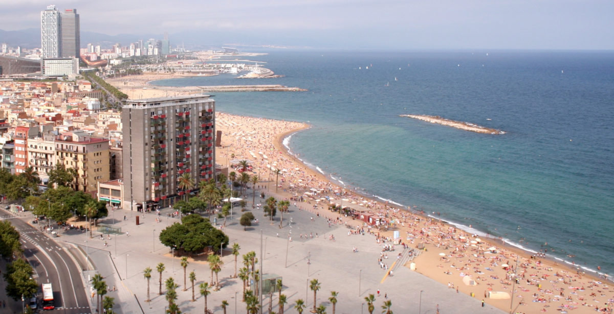 Barcelona Beaches from above