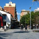 A square in Barceloneta
