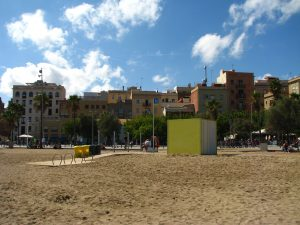 Barceloneta, view from the beach