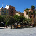 Beautiful Mediterranean Square on the Barceloneta beach walk
