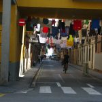 Clothes drying in Barceloneta side alley