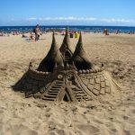 Gorgeous sand castle on Barceloneta beach