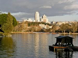 Lake in Casa de Campo Park Madrid