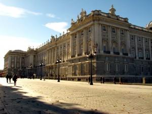 Royal palace in Madrid