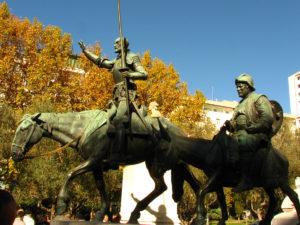 Don Quijote and Sancho Panza statues at Plaza de España, Madrid