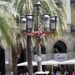 Gaudis lightpoles at Plaça Reial