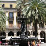 Tres Gracies Fountain at Plaça Reial