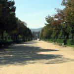 Ciutadella park promenade looking towards Arc de Triomf