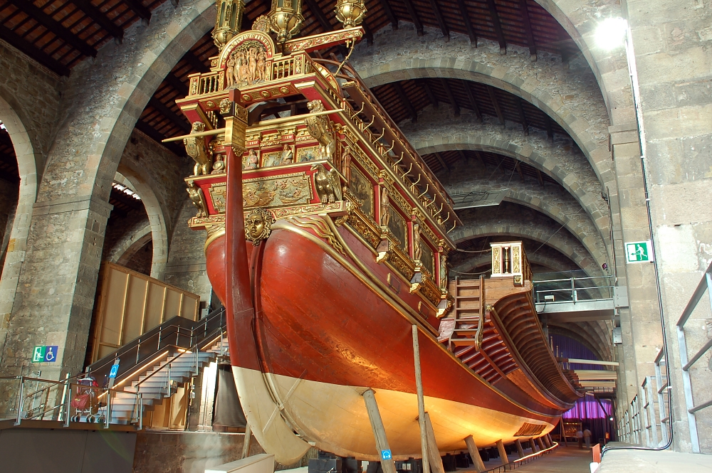 Mighty impreial galley at the Maritime Museum of Barcelona